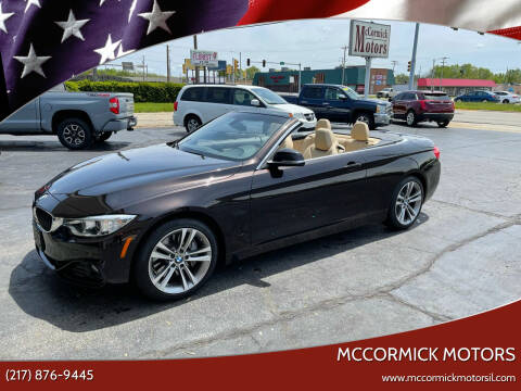 2016 BMW 4 Series for sale at McCormick Motors in Decatur IL