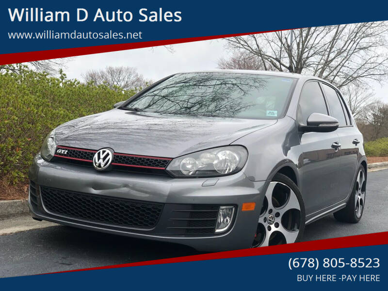 2011 Volkswagen GTI for sale at William D Auto Sales in Norcross GA