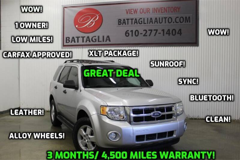 2010 Ford Escape for sale at Battaglia Auto Sales in Plymouth Meeting PA