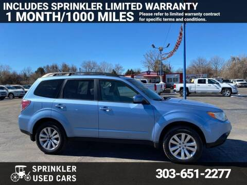 2012 Subaru Forester for sale at Sprinkler Used Cars in Longmont CO