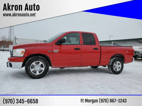 2008 Dodge Ram Pickup 2500 for sale at Akron Auto - Fort Morgan in Fort Morgan CO