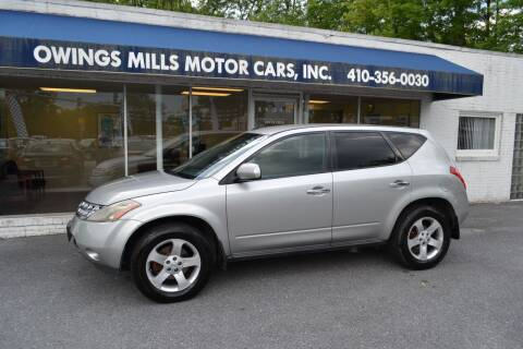 2004 Nissan Murano for sale at Owings Mills Motor Cars in Owings Mills MD