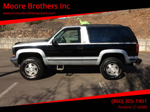 1994 Chevrolet Blazer for sale at Moore Brothers Inc in Portland CT