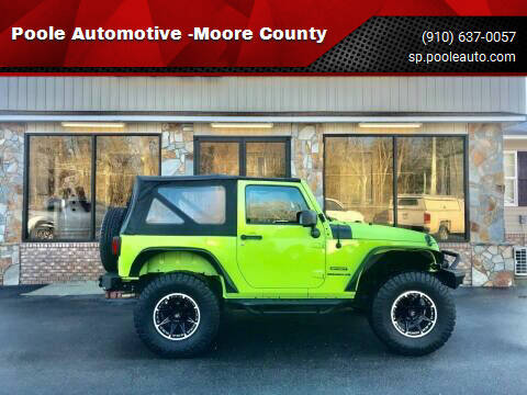 2012 Jeep Wrangler for sale at Poole Automotive in Laurinburg NC