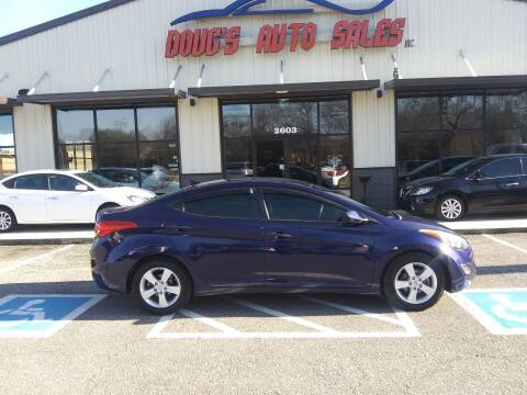 2013 Hyundai Elantra for sale at DOUG'S AUTO SALES INC in Pleasant View TN