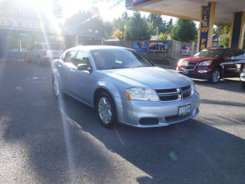 2013 Dodge Avenger for sale at Brooks Motor Company, Inc in Milwaukie OR