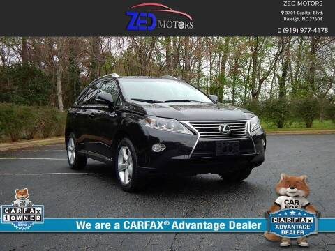 2014 Lexus RX 350 for sale at Zed Motors in Raleigh NC