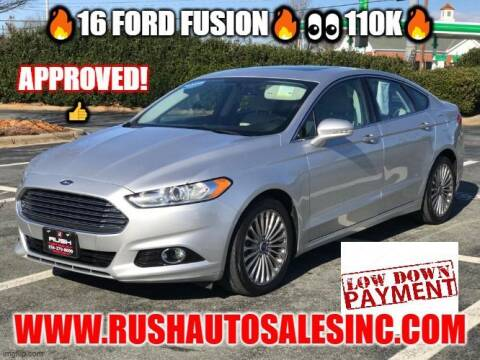 2016 Ford Fusion for sale at RUSH AUTO SALES in Burlington NC