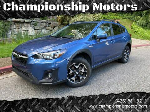 2018 Subaru Crosstrek for sale at Championship Motors in Redmond WA