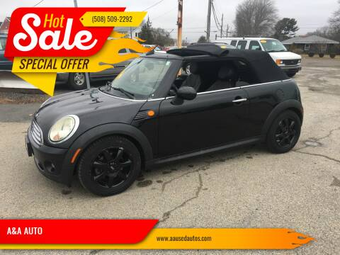 2010 MINI Cooper for sale at A&A AUTO in Fairhaven MA