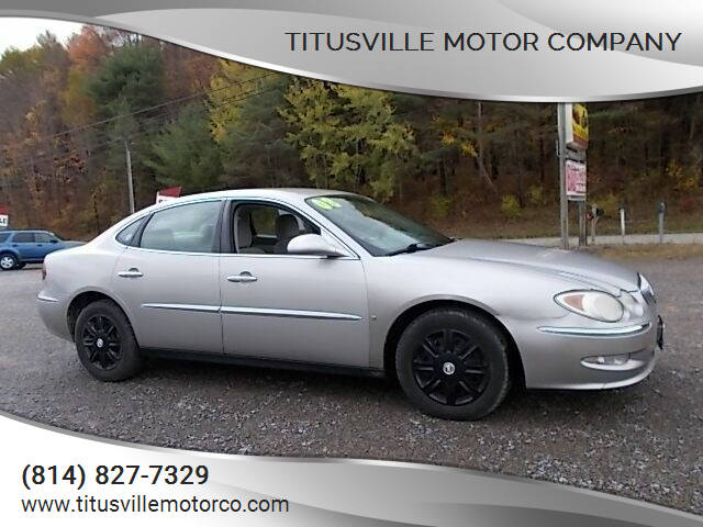2008 Buick LaCrosse for sale at Titusville Motor Company in Titusville PA