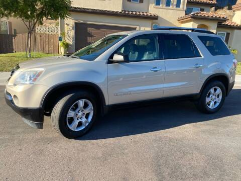 2008 GMC Acadia for sale at CALIFORNIA AUTO GROUP in San Diego CA