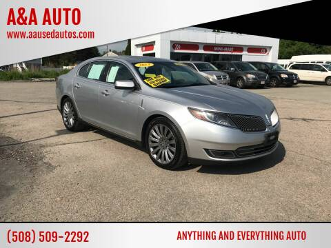 2013 Lincoln MKS for sale at A&A AUTO in Fairhaven MA