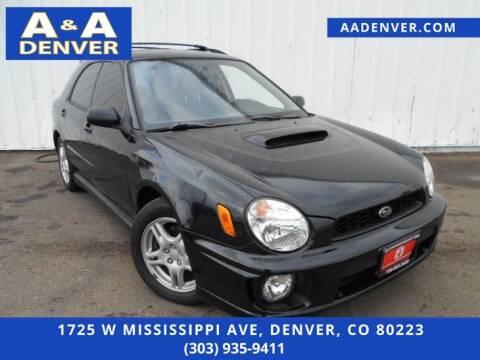 2002 Subaru Impreza for sale at A & A AUTO LLC in Denver CO