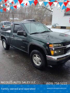 2004 Chevrolet Colorado for sale at NICOLES AUTO SALES LLC in Cream Ridge NJ