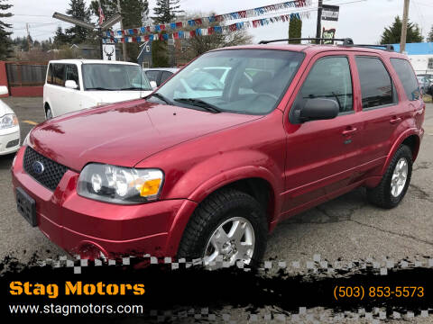 2007 Ford Escape for sale at Stag Motors in Portland OR