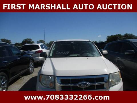 2010 Ford Escape for sale at First Marshall Auto Auction in Harvey IL