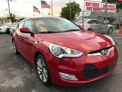 2017 Hyundai Veloster for sale at MIAMI AUTO LIQUIDATORS in Miami FL