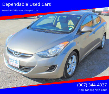 2013 Hyundai Elantra for sale at Dependable Used Cars in Anchorage AK