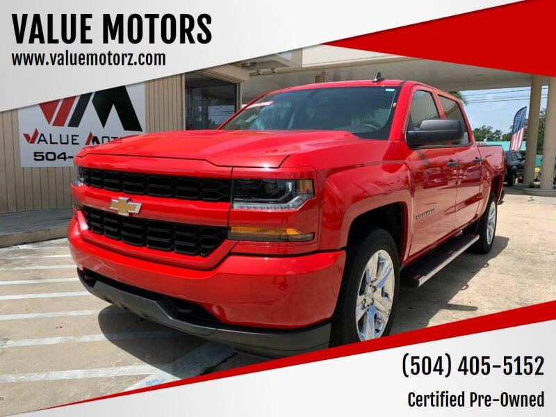 2018 Chevrolet Silverado 1500 for sale at VALUE MOTORS in Kenner LA