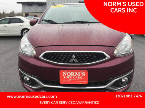 2018 Mitsubishi Mirage for sale at NORM'S USED CARS INC in Wiscasset ME