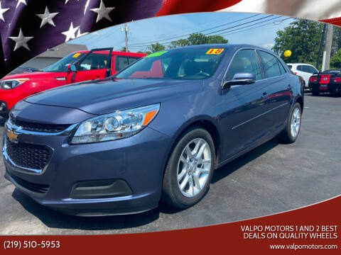 2015 Chevrolet Malibu for sale at Valpo Motors 1 and 2  Best Deals On Quality Wheels in Valparaiso IN