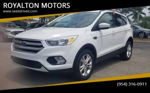 2018 Ford Escape for sale at ROYALTON MOTORS in Plantation FL