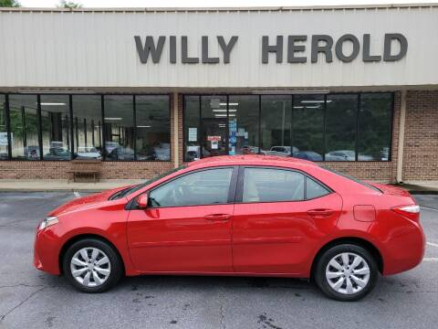 2016 Toyota Corolla for sale at Willy Herold Automotive in Columbus GA