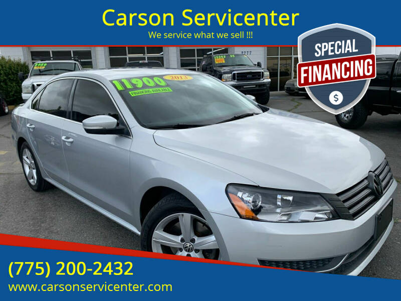 2013 Volkswagen Passat for sale at Carson Servicenter in Carson City NV