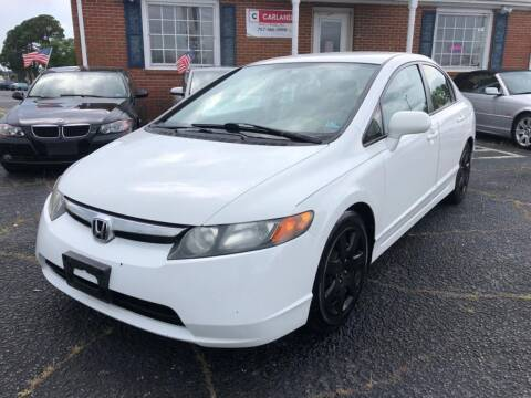 2008 Honda Civic for sale at Carland Auto Sales INC. in Portsmouth VA