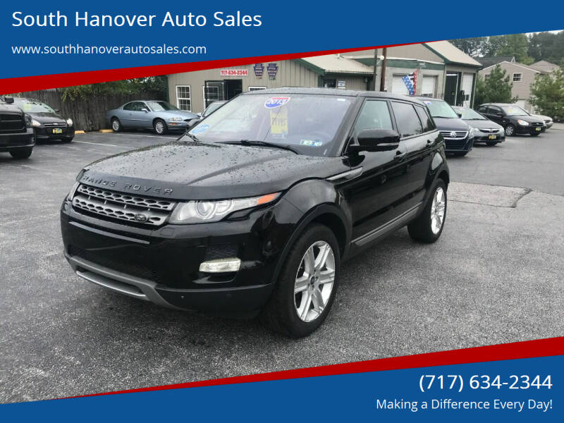 2013 Land Rover Range Rover Evoque for sale at South Hanover Auto Sales in Hanover PA