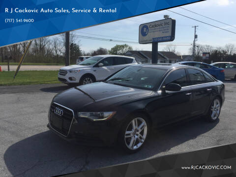 2015 Audi A6 for sale at R J Cackovic Auto Sales, Service & Rental in Harrisburg PA