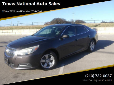 2013 Chevrolet Malibu for sale at Texas National Auto Sales in San Antonio TX