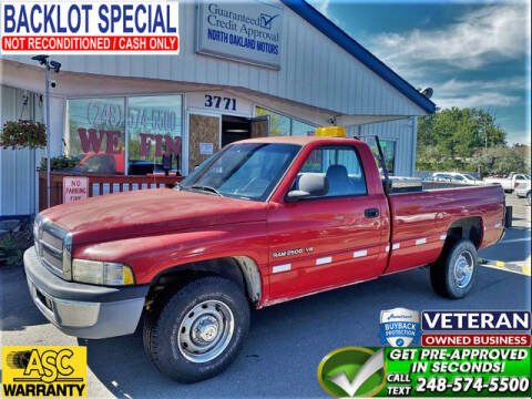 2001 Dodge Ram Pickup 2500 for sale at North Oakland Motors in Waterford MI