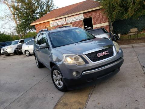2008 GMC Acadia for sale at El Jasho Motors in Grand Prairie TX