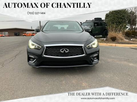 2018 Infiniti Q50 for sale at Automax of Chantilly in Chantilly VA