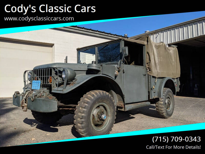 1952 Dodge M37 for sale at Cody's Classic Cars in Stanley WI