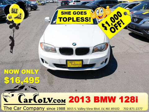 2013 BMW 1 Series for sale at The Car Company in Las Vegas NV