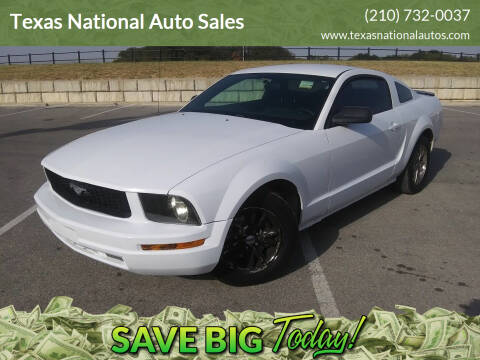 2009 Ford Mustang for sale at Texas National Auto Sales in San Antonio TX
