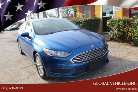 2017 Ford Fusion for sale at Global Vehicles,Inc in Irving TX