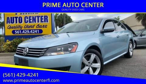 2012 Volkswagen Passat for sale at PRIME AUTO CENTER in Palm Springs FL