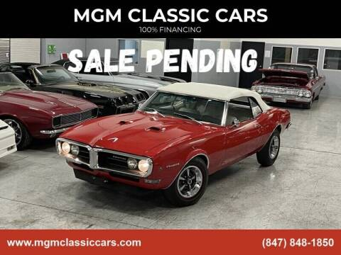 1968 Pontiac Firebird for sale at MGM Classic Cars in Addison, IL