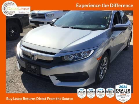 2018 Honda Civic for sale at Dallas Auto Finance in Dallas TX