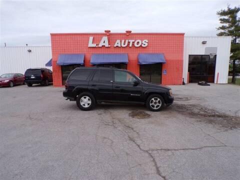 2002 Chevrolet TrailBlazer for sale at L A AUTOS in Omaha NE
