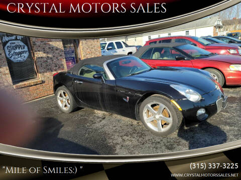 2006 Pontiac Solstice for sale at CRYSTAL MOTORS SALES in Rome NY