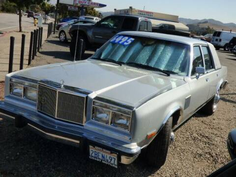 1984 Chrysler Fifth Avenue for sale at Coast Motors in Arroyo Grande CA