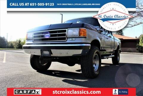 1991 Ford F-150 for sale at St. Croix Classics in Lakeland MN