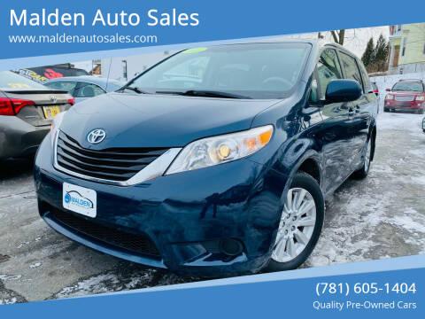 2011 Toyota Sienna for sale at Malden Auto Sales in Malden MA