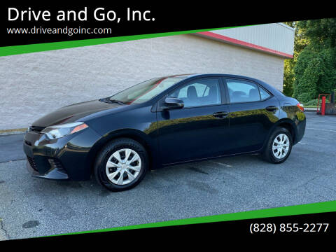 2014 Toyota Corolla for sale at Drive and Go, Inc. in Hickory NC