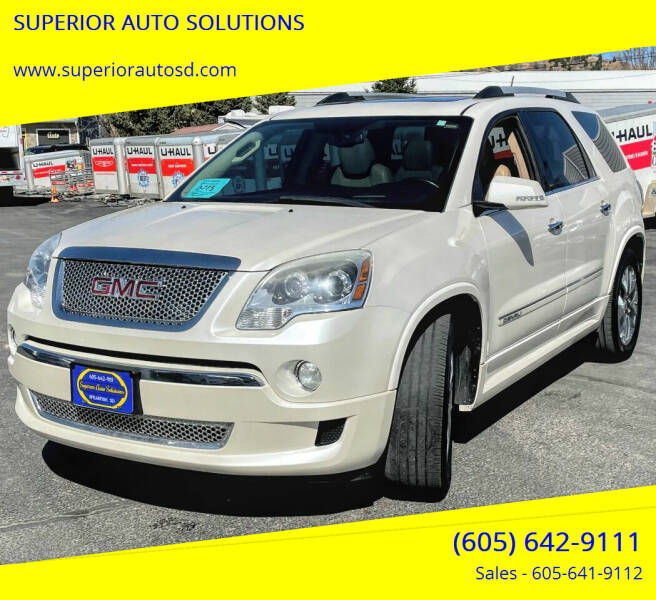 2011 GMC Acadia for sale at SUPERIOR AUTO SOLUTIONS in Spearfish SD